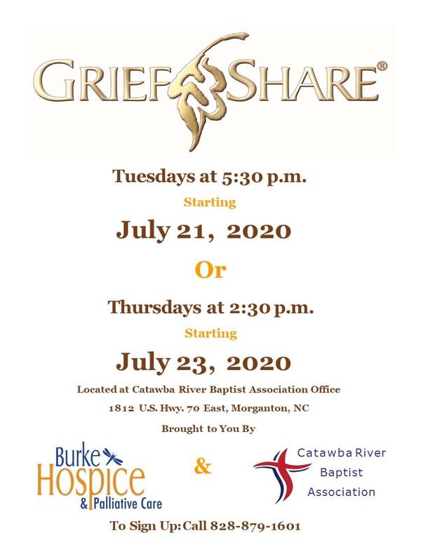 GriefShare Flyer 2020
