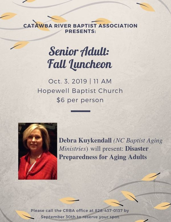 Senior Adult Luncheon Flyer 2019