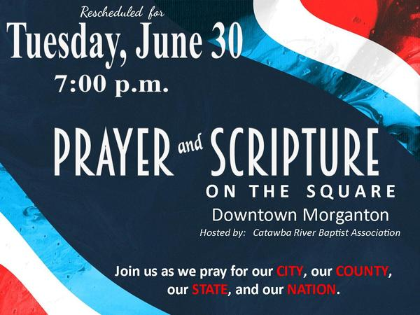 Prayer and Scripture Rescheduled