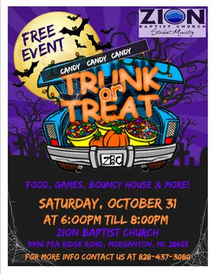Trunk or Treat Zion